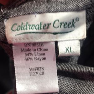 Coldwater Creek Tops - Gray tunic top